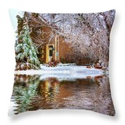 Ice Attack - Paint Throw Pillow