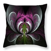 Ice Bloom Throw Pillow