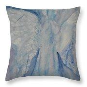 Ice Blue Angel Throw Pillow