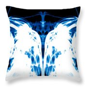 Ice Blue Throw Pillow by Sumit Mehndiratta