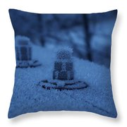 Ice Bolts Throw Pillow