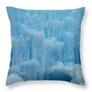 Ice Castles In Lincoln New Hampshire -2 Throw Pillow