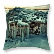 Ice Cave Of Stones Throw Pillow