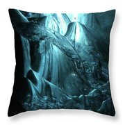 Iceland - Glacier Ice Caves #4 Throw Pillow