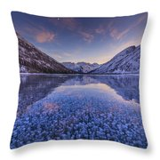 Ice Champagne Throw Pillow