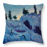 Ice Climbing Throw Pillow