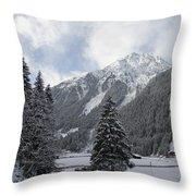 Ice Cold But Beautiul Throw Pillow