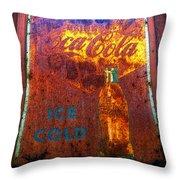 Ice Cold Coca Cola Throw Pillow