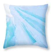 Ice Covered Mountains Good For Ice Climbing Throw Pillow