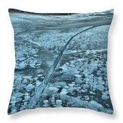 Ice Cracks And Bubbles Throw Pillow