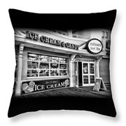 Ice Cream And Candy Shop At The Boardwalk - Jersey Shore Throw Pillow
