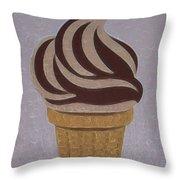 Ice Cream Emoji Throw Pillow