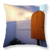 Ice Cream Shop Wooden Popsicle In Saint Augustine Florida Throw Pillow