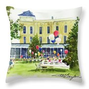 Ice Cream Social And Strawberry Festival, Lakeside, Oh Throw Pillow