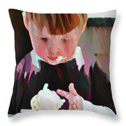 Ice Cream Time Throw Pillow