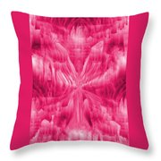 Ice Crystal Angel - Pink Throw Pillow