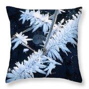 Ice Crystal Throw Pillow