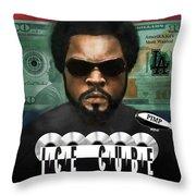 Ice Cube  Throw Pillow by Dwayne Glapion