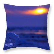 Ice Cube Sky Throw Pillow