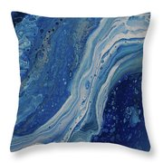 Ice Currents Throw Pillow