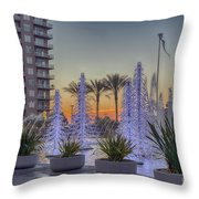 Ice Cycles At Sunset Throw Pillow