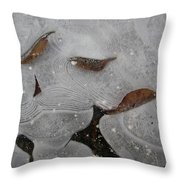 Ice Designs Throw Pillow