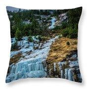 Ice Fall Throw Pillow