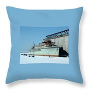 Ice Fishing On Lake Erie Throw Pillow