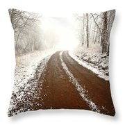 Ice Fog In Cypress Hills Provincial Park Of Saskatchewan Throw Pillow