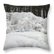 Ice Formations At Garwin Falls Throw Pillow