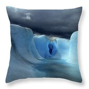 Ice Formations On Grey Glacier Chile Throw Pillow