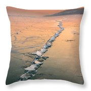 Ice Fracture Throw Pillow