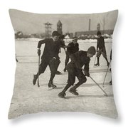 Ice Hockey 1912 Throw Pillow