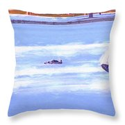 Ice Hockey - Two On Two Throw Pillow