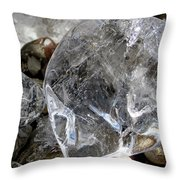Ice II Throw Pillow