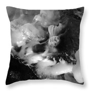 Ice In Cave Throw Pillow