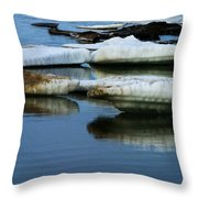 Ice In The Arctic Throw Pillow