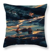 Ice In The Light 2  Throw Pillow