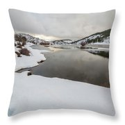 Ice In The River Throw Pillow