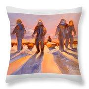Ice Men Come Home Throw Pillow