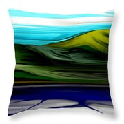 Ice Off Throw Pillow
