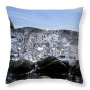 Ice On Rocks 3 Throw Pillow