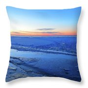 Ice On The Lake Two  Throw Pillow