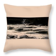 Ice On The Pemigewassett Throw Pillow