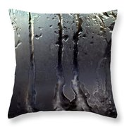 Ice On Window 3 Throw Pillow