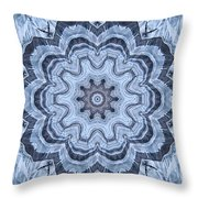 Ice Patterns Snowflake Throw Pillow