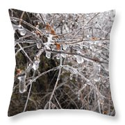 Ice Pearls Throw Pillow