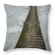 Ice Pier Throw Pillow