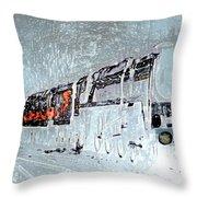 Ice Queen Express Throw Pillow