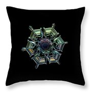Ice Relief, Black Version Throw Pillow by Alexey Kljatov